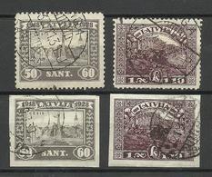 LETTLAND Latvia 1928 Michel 142 - 143 A + B O - Lettonie
