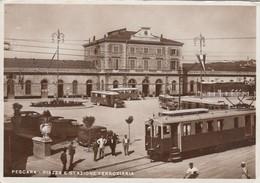 VICENZA-STAZIONE FERROVIARIA-CARTOLINA VIAGGIATA 1938-1948 - Vicenza