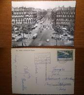 Paris Parigi Avenue De L'opera - 765 Viaggiata 1955 Anni '50 Francia France (A) - Francia