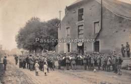 CARTE PHOTO ALLEMANDE MARGUT 1917 ROUTE De La FRONTIERE (d'ORVAL) CONCERT Devant Le LICHTSPIELHAUS -CINEMA Ancien CAFE ? - France
