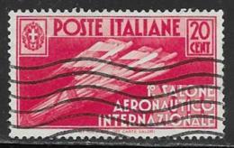 Italy Scott # 345 Used Flight Symbol, 1935 - 1900-44 Vittorio Emanuele III