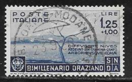 Italy Scott # 364 Used Countryside In Spring, 1936,  Expert Signed, CV$160.00 - 1900-44 Vittorio Emanuele III