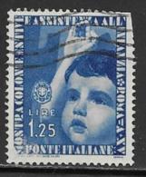 Italy Scott # 373 Used Child Giving Salute, 1937, Trimmed Perfs - 1900-44 Vittorio Emanuele III