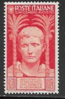 Italy Scott # 383 Mint Hinged Caesar, 1937 - 1900-44 Vittorio Emanuele III
