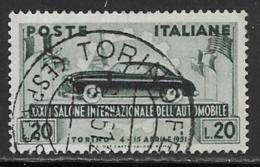 Italy Scott # 570 Used Automobile, 1951 - 6. 1946-.. Republic