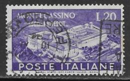 Italy Scott # 579 Used Montecassino, 1951 - 6. 1946-.. Republic
