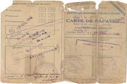 Carte De Rapatrié Juin 1946 ( Retour D'un Prisonnier De Guerre - Stalag IV C ) - Carte D'identité Provisoire - Vecchi Documenti