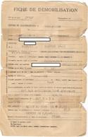 Fiche De Démobilisation Juin 1946 ( Retour D'un Prisonnier De Guerre - Stalag IV C ) - Artilleur Au 66ème R.A.N.A. - Vecchi Documenti