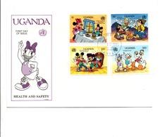 DISNEY FDC 1990 UGANDA HEALTH AND SAFETY - Disney