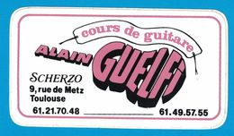 AUTOCOLLANT COURS DE GUITARE ALAIN GUELFI SCHERZO 9 RUE DE METZ TOULOUSE - Aufkleber