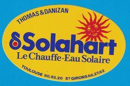 AUTOCOLLANT THOMAS & DANIZAN SOLAHART LE CHAUFFE-EAU SOLAIRE TOULOUSE ST GIRONS - Aufkleber