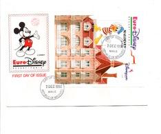 DISNEY FDC 1992 MALDIVES DISNEYLAND PARIS - Disney