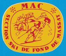 AUTOCOLLANT MAC SECTION SKI DE FOND DE MASSAT - Aufkleber