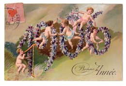 40499-ZE-FETE----Bonne Année-------------année 1906----------angelot Dont Musicien - Nieuwjaar