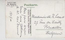 Werbung - Teppich-Lager W.Minners Gr.Burstah 51 - AK-Hamburger Hafen - Briefe U. Dokumente
