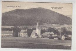 Seitenberg A.d. Biele - Königl.Prinzl.Schloss U. Evangl. Kirche - 1923 - Schlesien