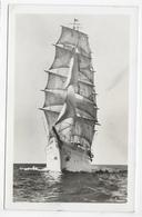 (RECTO / VERSO) VOILIER LE SEA CLOUD - BALTIMORE EN 1947 - CARTE PHOTO FORMAT CPA - USA - Voiliers