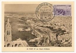 ALGERIE - Carte Maximum - 30f La Ville Et Le Port - ORAN - 16/12/1956 - Cartes-maximum