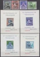 Spain 17.04.1961 Mi # 1235-38 Bl 15-18 D. Velazquez's Date Of Death TercentenaryMNH OG - Otros