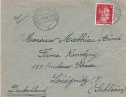 LETTRE BRIEF LUDWIGSHAFEN-OPPAU 1/4/44 GEMEINSCHAFTSLAGER VI P . POUR LIEGNITZ - Allemagne