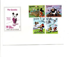 DISNEY FDC 1991 GAMBIE SPORTS AND GAMES OF JAPAN - Disney