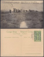 "CONGO EP VUE 5C VERT ""N°27 EST AFRICAIN ALLEMAND ( Occupation Belge) Echelon De Munitions"" (DD) DC7002 - Ganzsachen"