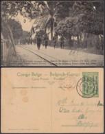 """CONGO EP VUE 5C VERT """"N°50 EST AFRICAIN ALLEMAND ( Occupation Belge) Entrée Des Belges à Tabora"""" (DD) DC7004 - Ganzsachen"""