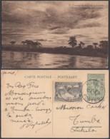 "CONGO EP VUE 45C VERT ""N°17 Coucher De Soleil Sur Le Luababa"" (DD) DC7005 - Stamped Stationery"