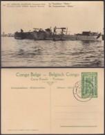 "CONGO EP VUE 5C VERT ""N°14 EST AFRICAIN ALLEMAND (Occupation Belge) Le Torpilleur Netta"" (DD) DC7009 - Ganzsachen"