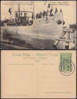 """CONGO EP VUE 5C VERT """"N°13 EST AFRICAIN ALLEMAND (Occupation Belge) Steamer Baron Dhanis"""" (DD) DC7016 - Ganzsachen"""