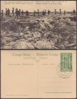 """CONGO EP VUE 5C VERT """"N°7 EST AFRICAIN ALLEMAND (Occupation Belge) Colonne De Porteurs"""" (DD) DC7018 - Interi Postali"""