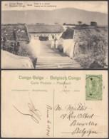 "CONGO EP VUE 5C VERT ""N°33 Congo Belge Uvira Entrée De La Redoute "" (DD) DC7026 - Interi Postali"