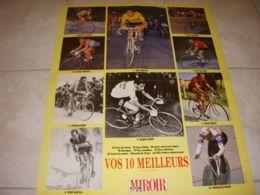 CYCLISME POSTER Les 10 MEILLEURS CYCLISTES MERCKX COPPI HINAULT Au Dos MARIE - Sport