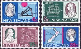 NEW ZEALAND 1969 200th Ann Of Captain Cook's Landing Set SG906/909 MNH - New Zealand