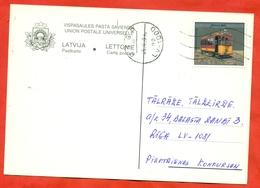 Latvia 1999. Postcard  Past Mail. - Tramways