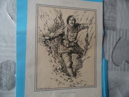 GUERRE DE 1914-1918  -  L'AGENT DE LIAISON (au Recto) - LE GRENADIER-FUSILIER (au Verso) - Documents