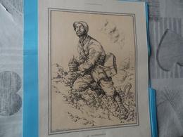GUERRE DE 1914-1918  -  LE TELEPHONISTE (au Recto)  - LE BRANCARDIER (au Verso) - Documents