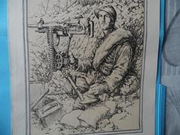 GUERRE DE 1914-1918  -  LE MITRAILLEUR (au Recto)  -  LE CANONNIER DE 37 (au Verso) - Documents