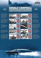 Gran Bretagna, 2014 CS25 50° Ann. Del Record Di Velocità Di Campbell, Smiler, Con Custodia, Perfetto - Personalisierte Briefmarken