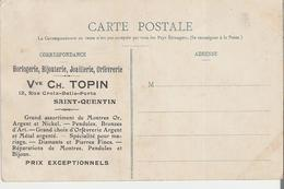 SAINT QUENTIN. CPA  Pub Vve Ch. Topin  L'Hôtel De Ville (début De Décollement Des Feuillets Voir Scan) - Saint Quentin