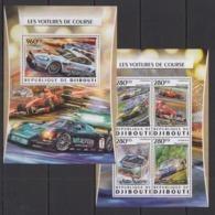 DJ035 2016 DJIBOUTI TRANSPORT RACE CARS VOITURES DE COURSE KB+BL MNH - Cars