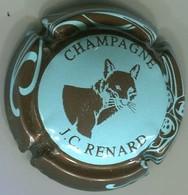 CAPSULE-CHAMPAGNE RENARD J.C. N°14 Bleu Pâle, Contour Sparflex Marron - Champagne