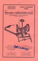 Pub Reclame Org. Knipsel Magazine - Landbouw Agriculture - Machines Gebrs Schellekens - Schoonbroek Oud Turnhout 1951 - Advertising