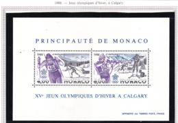 Monaco - Bloc Feuillet - 1988 - BF N°40** - Blocs