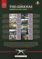 Gran Bretagna, 2015 CS29 200° Ann. Del Corpo Militare Dei Gurkhas, Smiler, Con Custodia, Perfetto - Personalisierte Briefmarken