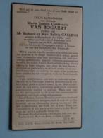 DP Maria Van BOGAERT ( Dochter Van Richard & Sylvia Callens ) Zwijndrecht 7 Mei 1901 - 7 Sept 1922 ( Zie Foto's ) ! - Todesanzeige