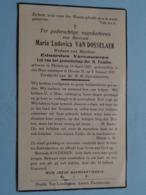 DP Maria Van DOSSELAER ( Eduardus Vercauteren ) Melsele 15 April 1867 - Deurne 8 Jan 1937 ( Zie Foto's ) ! - Todesanzeige