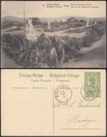 """CONGO EP VUE 5C VERT """"N°19 Congo Belge BOMA Parc Du Gouverneur Général """" (DD) DC7030 - Interi Postali"""