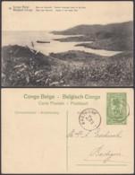 """CONGO EP VUE 5C VERT """"N°18 Congo Belge Baie De Mobinbi Cratère Immergé Dans Le Lac Kivu """" (DD) DC7032 - Interi Postali"""