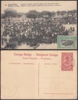 """CONGO EP VUE 10C ROUGE """"N°24 Congo Belge Indigènes Se Rendant à Bord D'un Steamer Pour Vendre """" (DD) DC7049 - Interi Postali"""